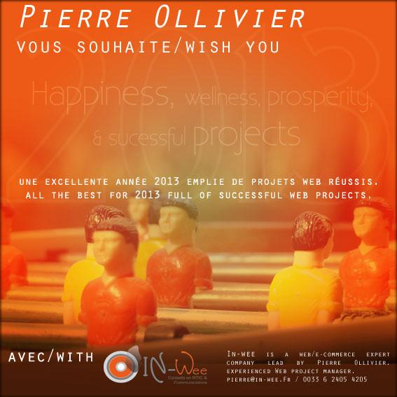 In-Wee et Pierre Ollivier vous souhaite un excellent année 2013 emplie de projets web réussis